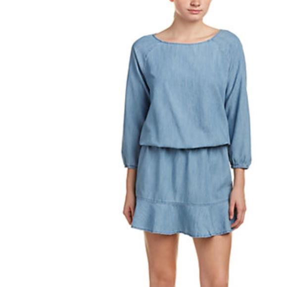 8fb2293f23 Soft Joie Womens Arryn B Blue Ruffled Mini Dress. M 5a9f199c45b30c2ed21d4591